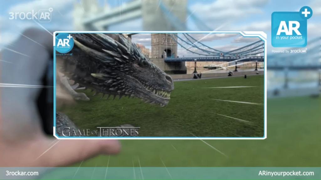GoT dragon AR experience